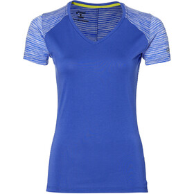 asics fuzeX V-Neck SS Top Women blue purple